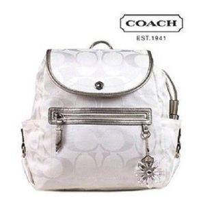 Coach White Backpack